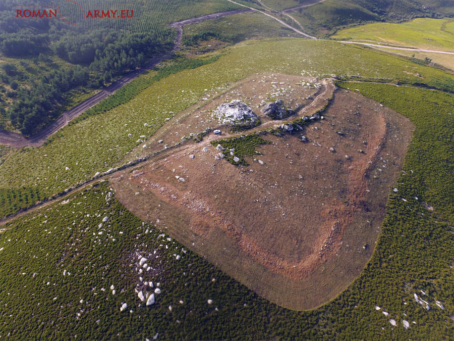 Un campamento romano de altura, cerca de la Estación de montaña de Manzaneda
