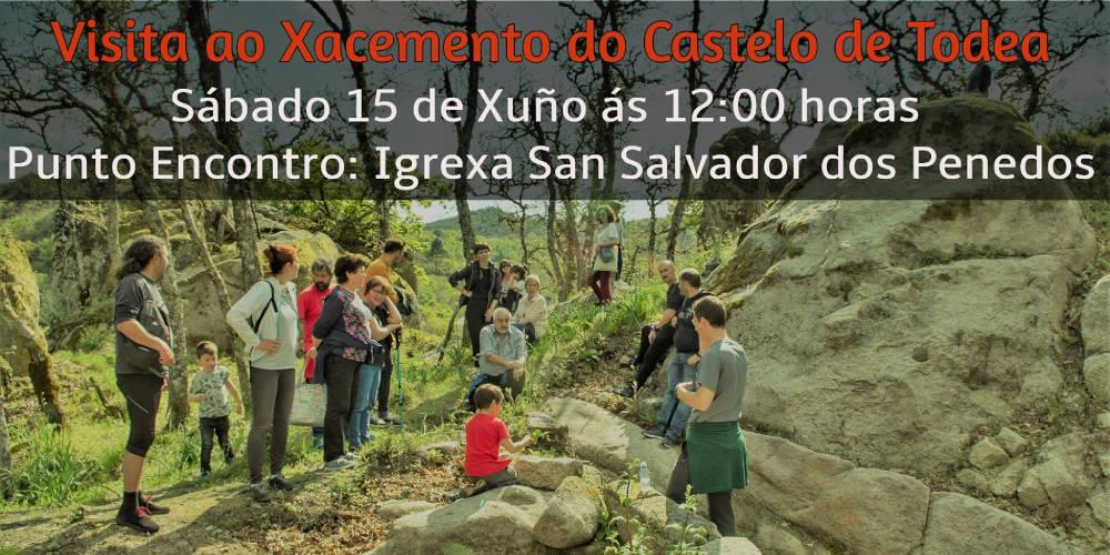 Cartel de la visita al Xacemento do Castelo de Todea, interpretada por el GEAAT de la Universidade de Vigo y organizada por Xeitura en el marco de la Festa do Boi