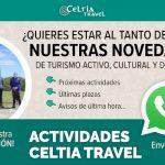 Apúntate a la lista de difusión de whatsap de Celtia Travel